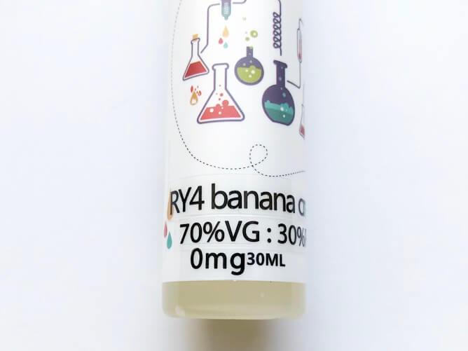 RY4 Banana CreamVG・PG比率