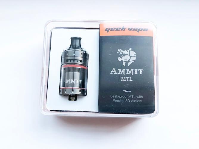 GeekVape AMMIT MTL RTA パッケージ