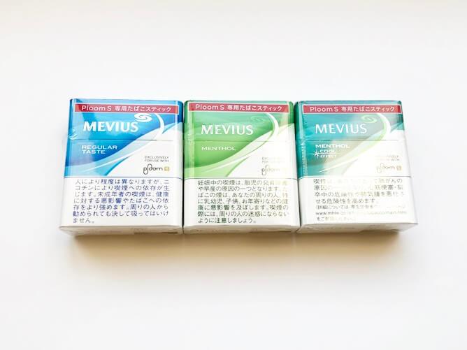 プルーム・エス 専用たばこスティック3銘柄