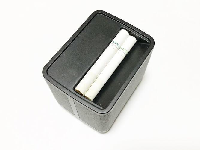 プルームエス 吸殻入れにたばこスティックを入れた