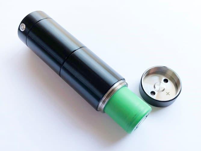 クトゥルフチューブMODに183650バッテリー挿入