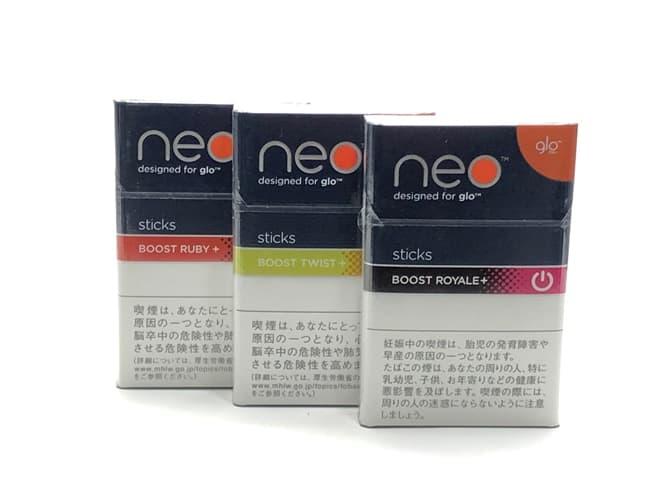 グロー「neoシリーズ」3種類の氷結アロマフレーバー