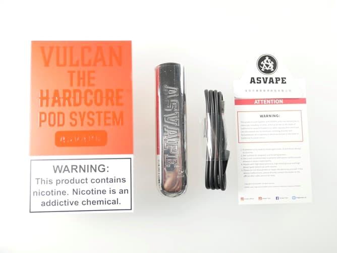 ASVAPE VULCAN POD 付属品