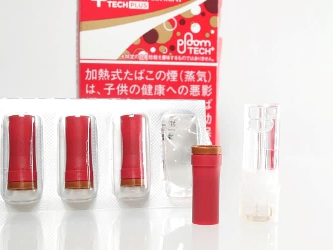 プルームテックプラス(エナジー・スパーク・ミント)真っ赤なたばこカプセル