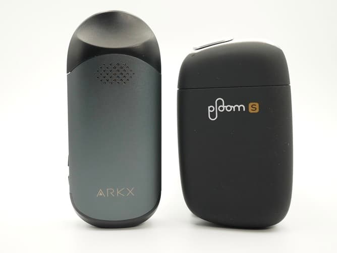 ARK X エックスタイプ 加熱式タバコとサイズ比較