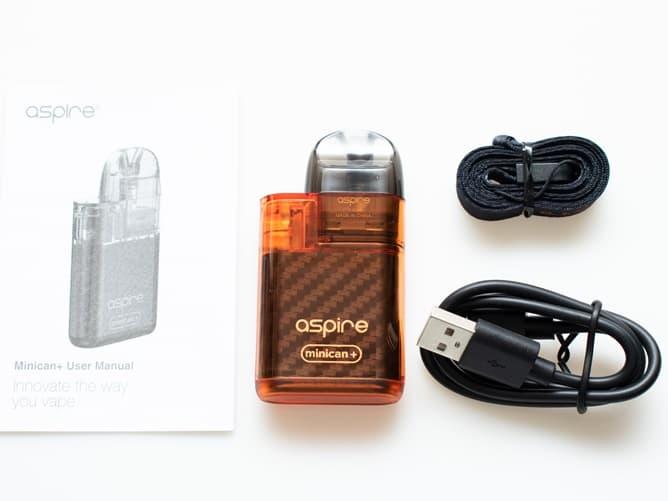 POD型VAPE アスパイア ミニカンプラスの付属品